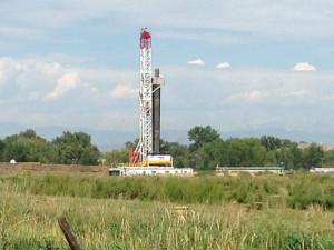 Hydraulic fracking site in Colorado.