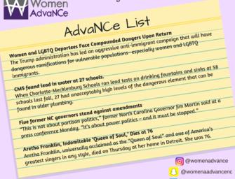 AdvaNCe List: August 10-16th