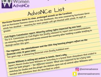 AdvaNCe List: September 14 to 20th