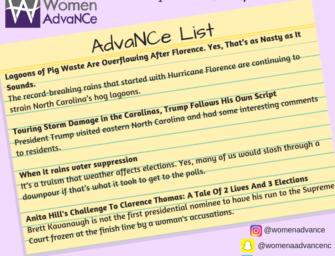 AdvaNCe List: September 21-27th