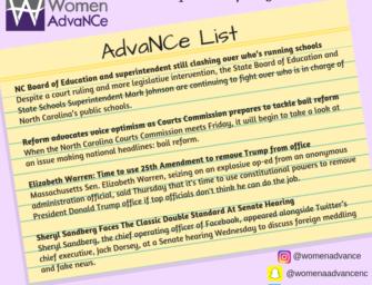 AdvaNCe List: September 7 to 13th
