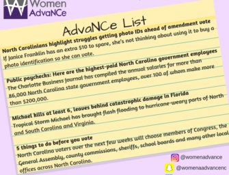 AdvaNCe List: Oct. 12-18th