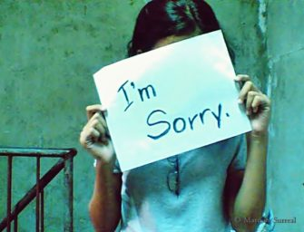 "We're a ""Sorry"" Society"