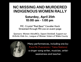 Saturday's Online Rally for Missing, Murdered Indigenous Women & Girls
